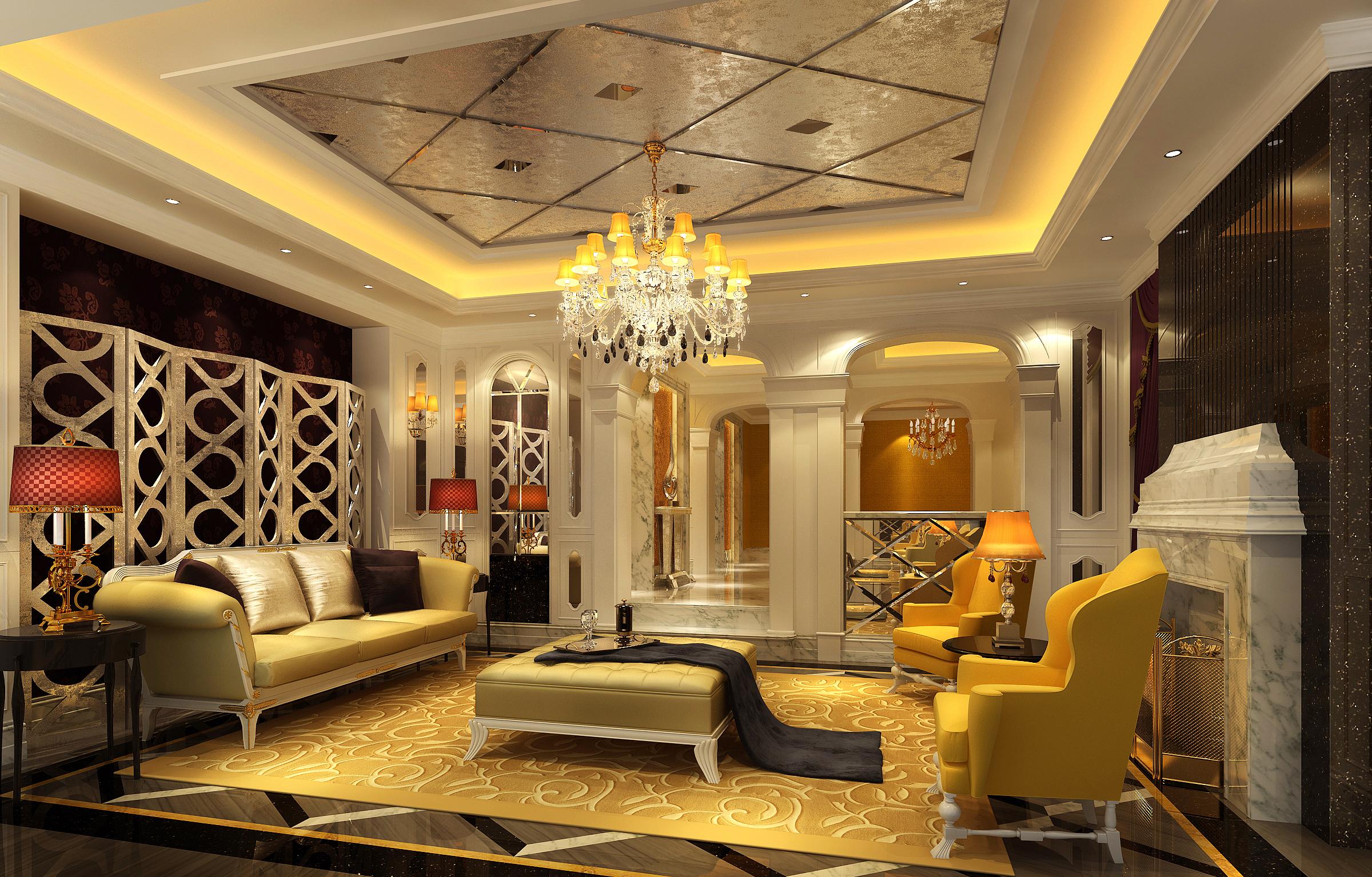 三居 港式 英伦 客厅图片来自天津京尚装饰在京尚装饰-观锦-港式三居128㎡的分享
