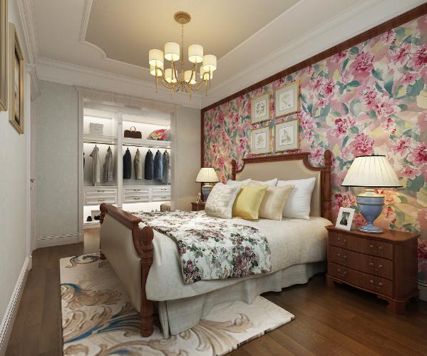 美式家居的卧室布置较为温馨,作为主人的私密空间,主要以功能性和实用舒适为考虑的重点。