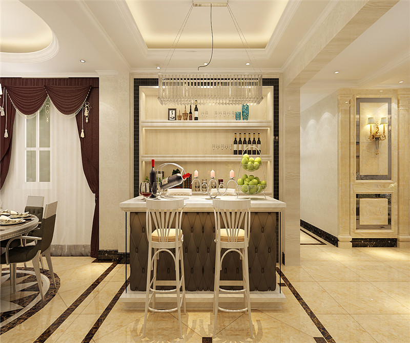 餐厅图片来自天津科艺隆装饰在融侨观邸—简欧风格—220㎡的分享