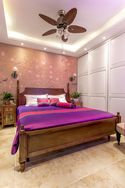 旧房改造 80后 东南亚风 卧室图片来自爱窝窝精致家装机构在东单外交部的分享