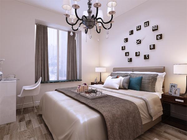 主次卧的设计上也一样,简约并不简单,没有任何的造型设计,让业主能有一个舒适的居住环境。
