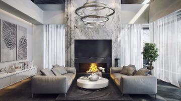 北辰红橡墅-现代灰色别墅设计