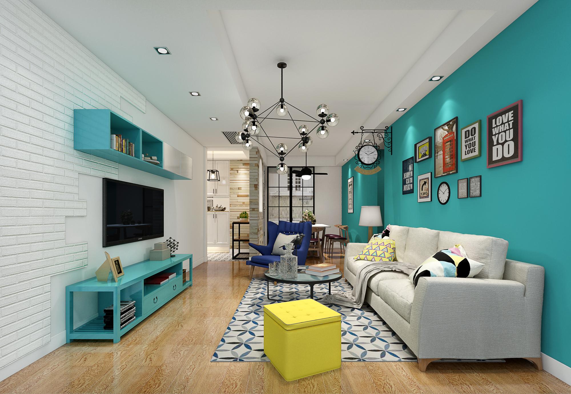 二居 欧式 简约 客厅图片来自赢和国际设计在可逸兰亭的分享