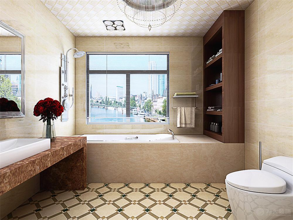 卫生间图片来自阳光力天装饰在欧式风格   海河大观  212㎡的分享