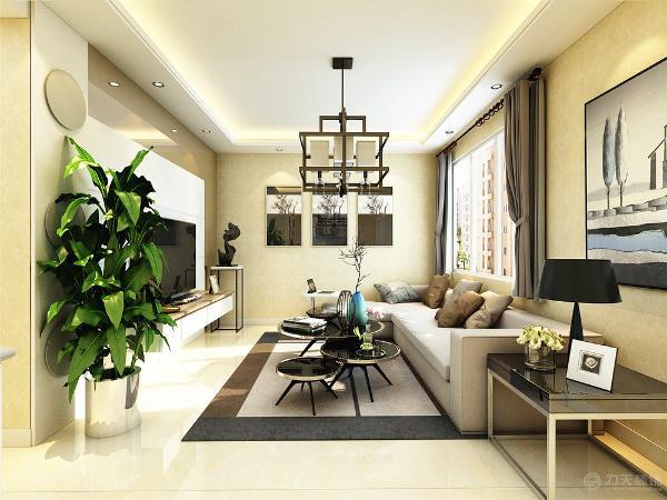 本案是三室一厅一厨一卫的户型,针对业主,整体的设计色调偏暖,比较清新淡雅,给人一种温馨舒适的感觉,也体现了现代简约风格的特点。