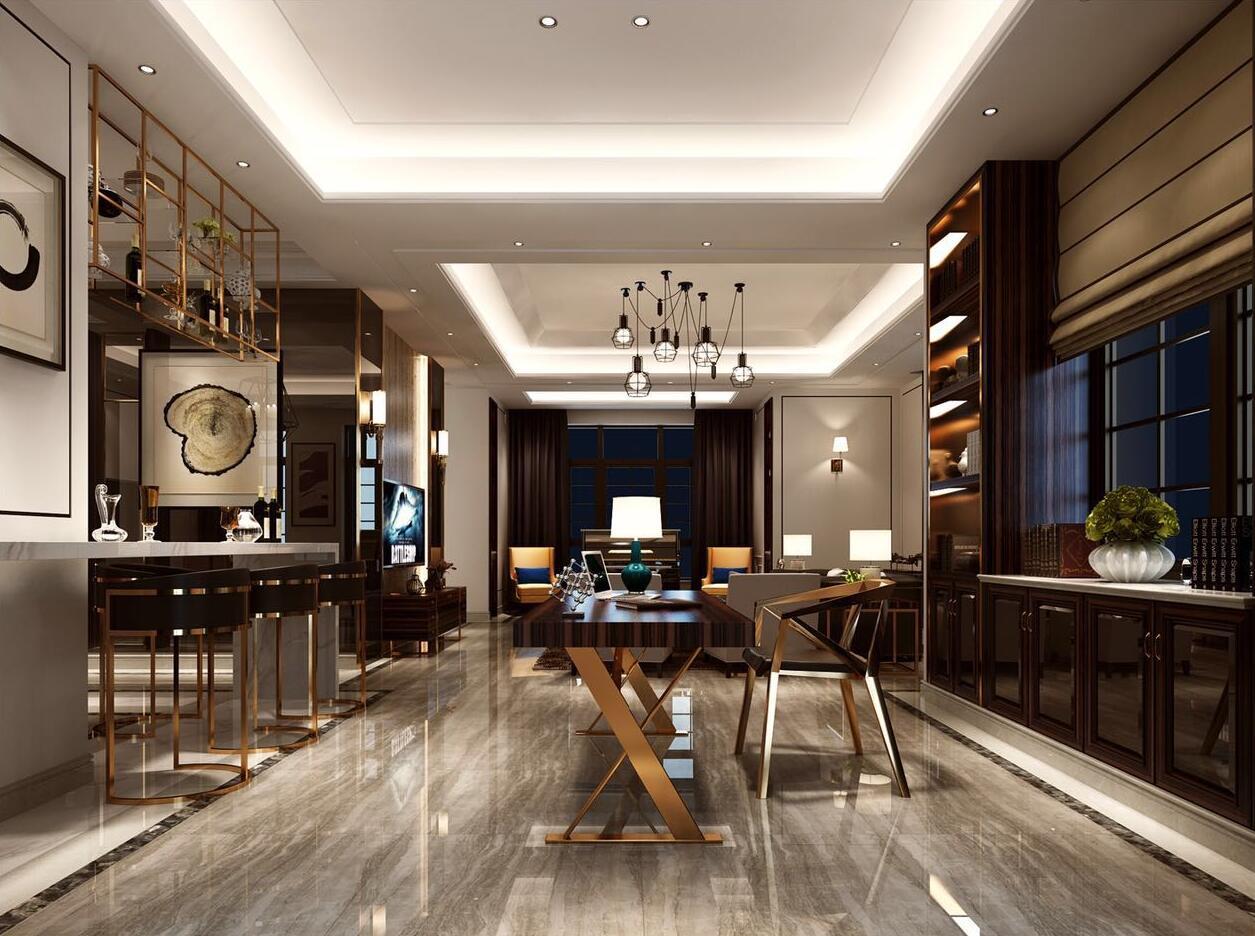 中星红庐 别墅装修 现代风格 腾龙设计 客厅图片来自设计师曹晖在中星红庐别墅装修现代风格设计的分享