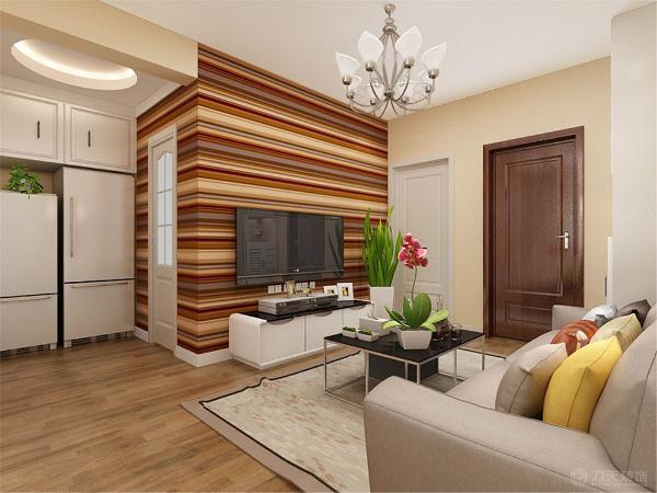 客厅这里因为空间的局限性,所以只放置了一个小型的三人沙发,茶几也选的小号的