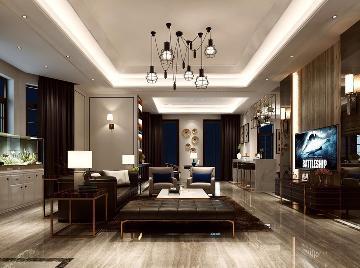 中星红庐别墅装修现代风格设计