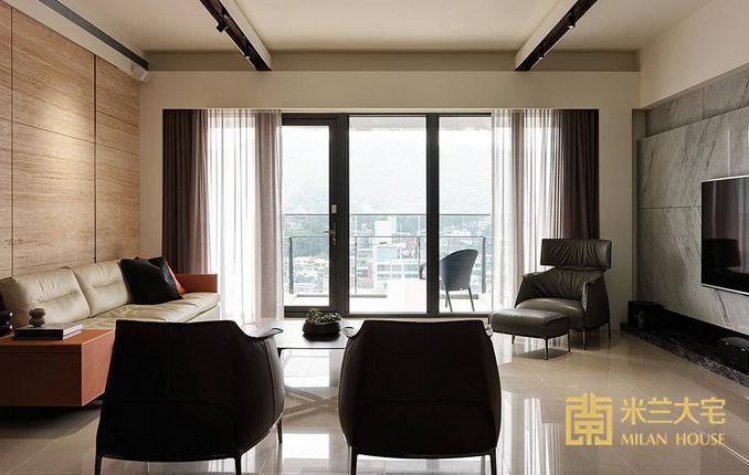 混搭 三居 小资 客厅图片来自米兰大宅设计会所在135平方米混搭三居室的分享