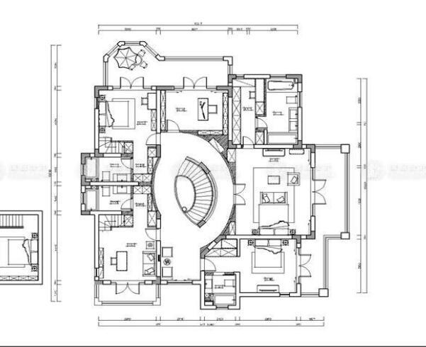 东海御庭 别墅装修 美式风格 腾龙设计 祝炯作品 户型图图片来自腾龙设计师朱炯在东海御庭独栋别墅的分享