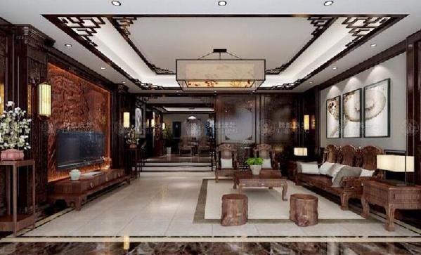 曹安景林苑别墅装修新中式风格设计方案展示,上海腾龙别墅设计师归宏华作品,欢迎品鉴!
