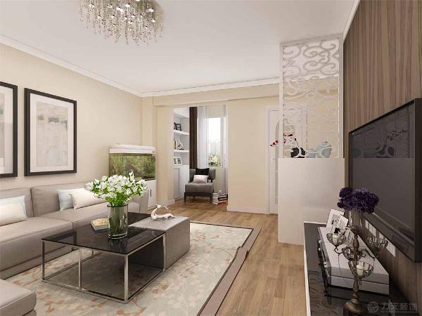 该户型为弘丽园83平米的两室一厅的户型。整体设计风格为现代简约风格。