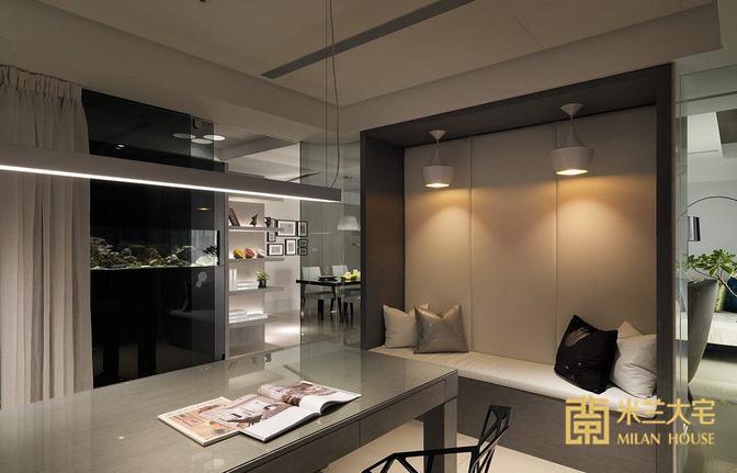 简约 三居 书房图片来自米兰大宅设计会所在165平方米现代简约三居室的分享