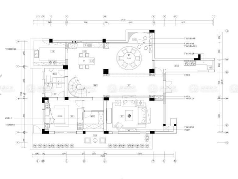 长城澜溪岸 别墅装修 简美风格 腾龙设计 户型图图片来自腾龙设计师朱炯在长城澜溪岸城380平别墅简美的分享