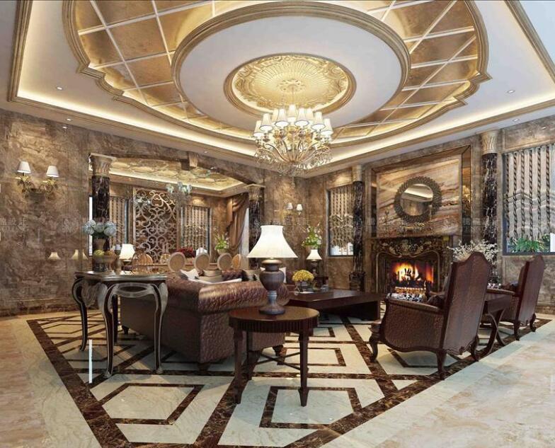 东源丽晶 别墅装修 欧式古典 腾龙设计 周灏作品 餐厅图片来自室内设计师周灏在东源丽晶别墅欧式古典风格的分享