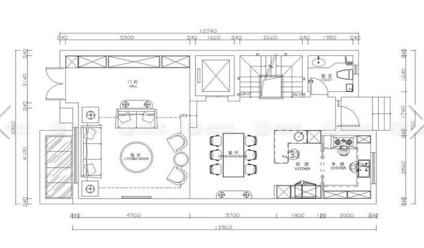 陆家嘴 红醍半岛 别墅装修 现代风格 腾龙设计 户型图图片来自室内设计师徐文在陆家嘴红醍半岛别墅装修现代风格的分享