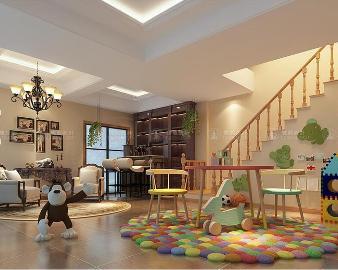 华贸东滩260平别墅装修现代风格