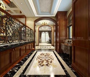 徐汇新城235平别墅美式风格设计