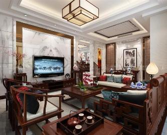 天赐景城别墅装修中式风格设计