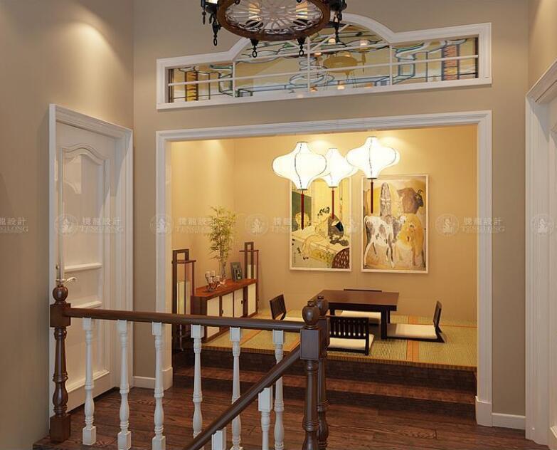 华贸东滩 别墅装修 现代风格 腾龙设计 楼梯图片来自孙明安在华贸东滩173平户型装修现代的分享
