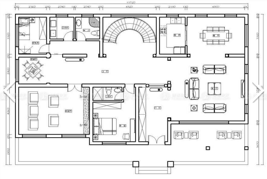 东源丽晶 别墅装修 欧式古典 腾龙设计 周灏作品 户型图图片来自室内设计师周灏在东源丽晶别墅欧式古典风格的分享