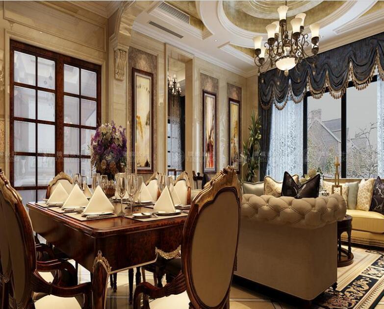 华贸东滩花 别墅装修 欧式古典风 腾龙设计 客厅图片来自孙明安在华贸东滩360平别墅新古典设计的分享