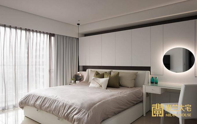 简约 三居 卧室图片来自米兰大宅设计会所在165平方米现代简约三居室的分享
