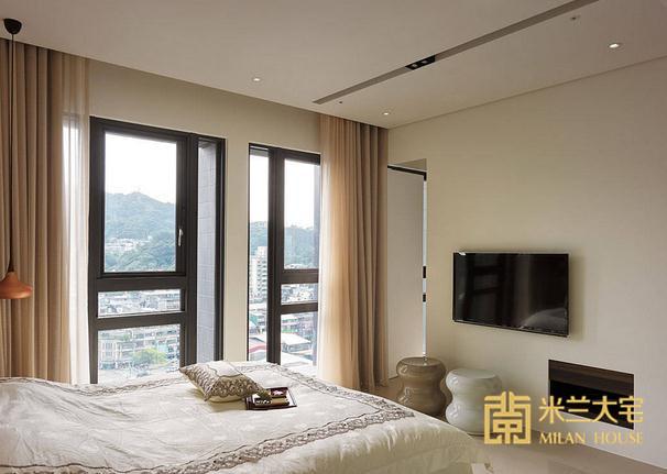 混搭 三居 小资 卧室图片来自米兰大宅设计会所在135平方米混搭三居室的分享