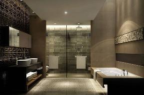 别墅 中式 收纳 卫生间图片来自张勇高级室内设计师在中式设计案例展示的分享