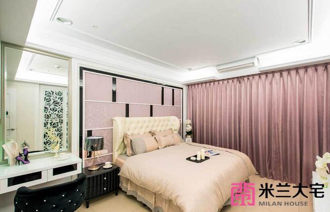 欧式 三居 小资 卧室图片来自米兰大宅设计会所在145平方米欧式风格三居室的分享