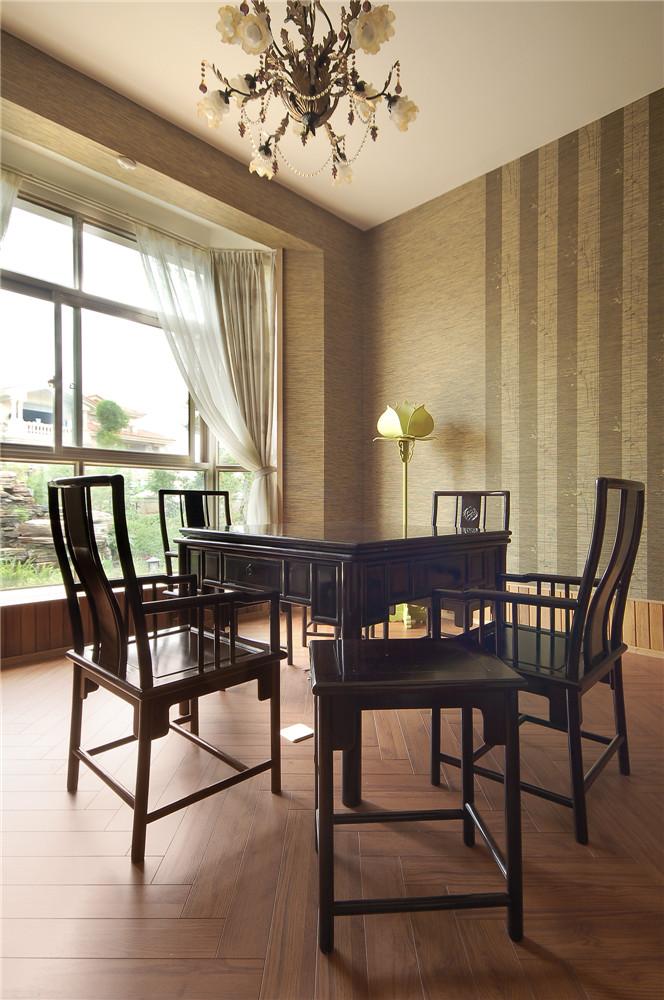 简约 新中式 收纳 别墅 餐厅图片来自张勇高级室内设计师在北京院子新中式设计案例效果展示的分享