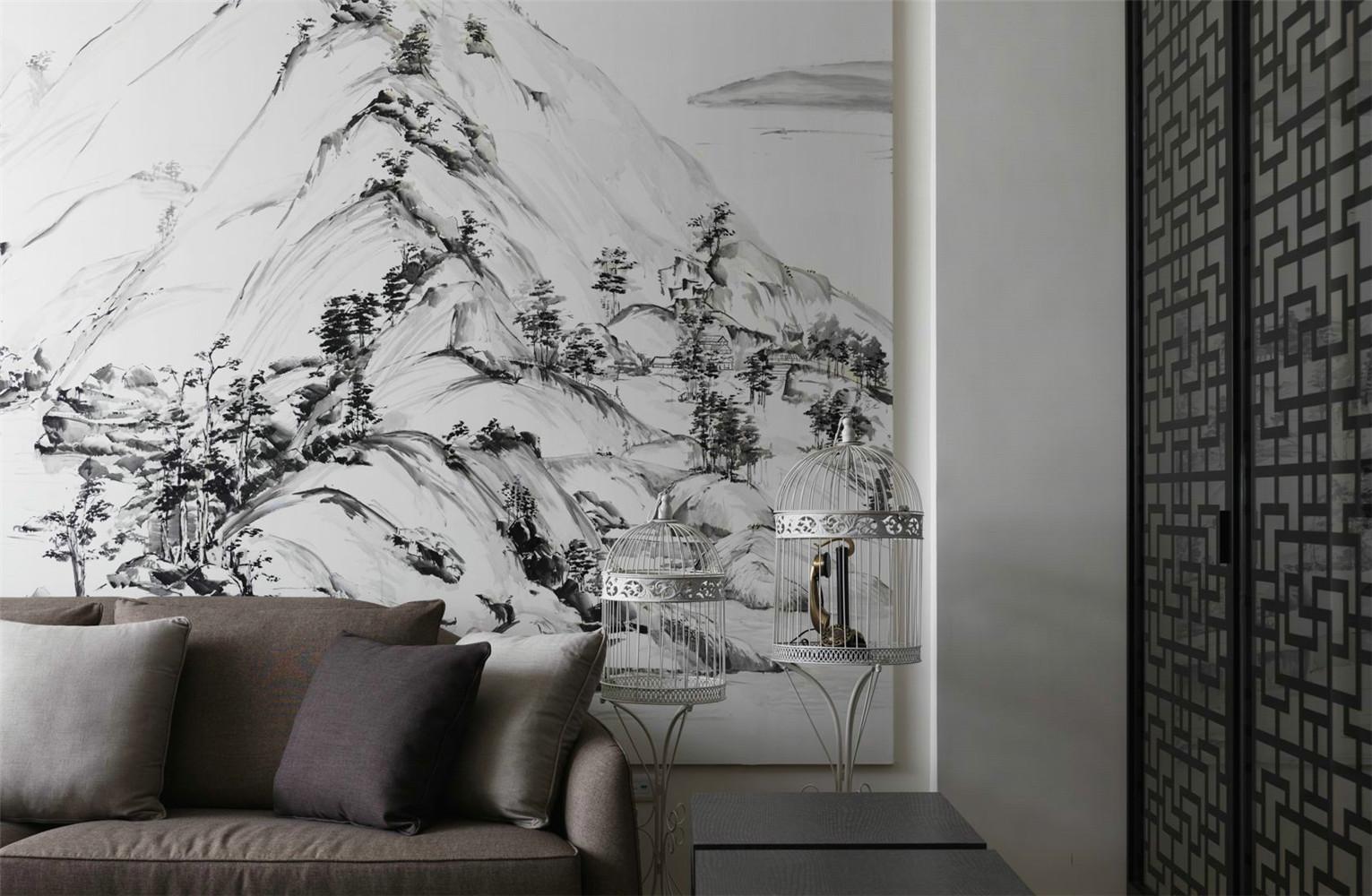 简约 中式 收纳 别墅 客厅图片来自张勇高级室内设计师在中式案例效果解析的分享