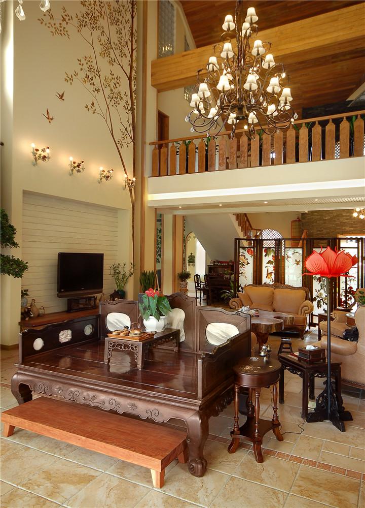 简约 新中式 收纳 别墅 客厅图片来自张勇高级室内设计师在北京院子新中式设计案例效果展示的分享