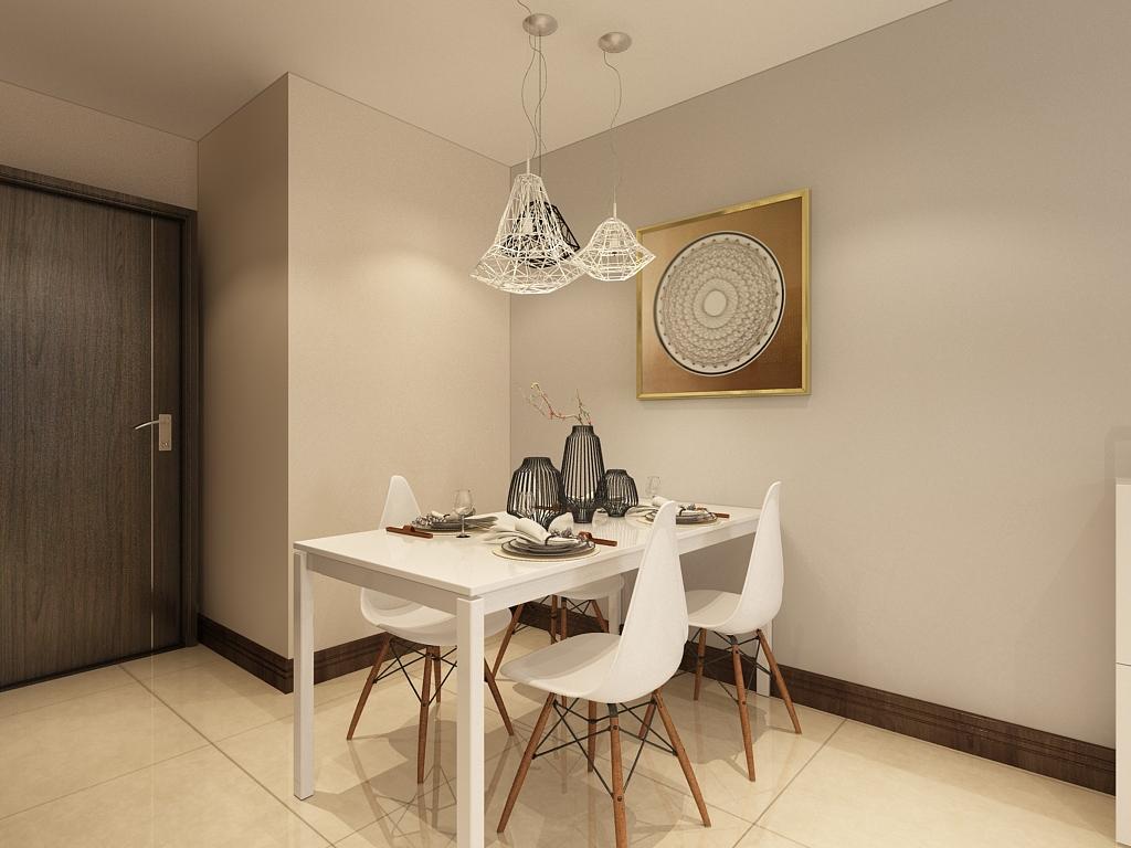 简约 三居 餐厅图片来自石家庄阳光力天装饰在荣盛阿尔卡迪亚-96㎡-现代的分享