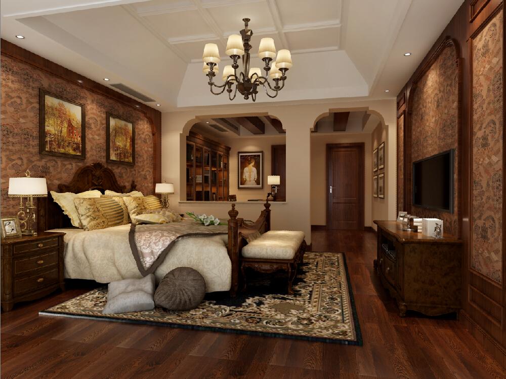 达安圣芭芭 别墅装修 美式风格 腾龙设计 卧室图片来自腾龙设计在达安圣芭芭别墅装修美式风格的分享
