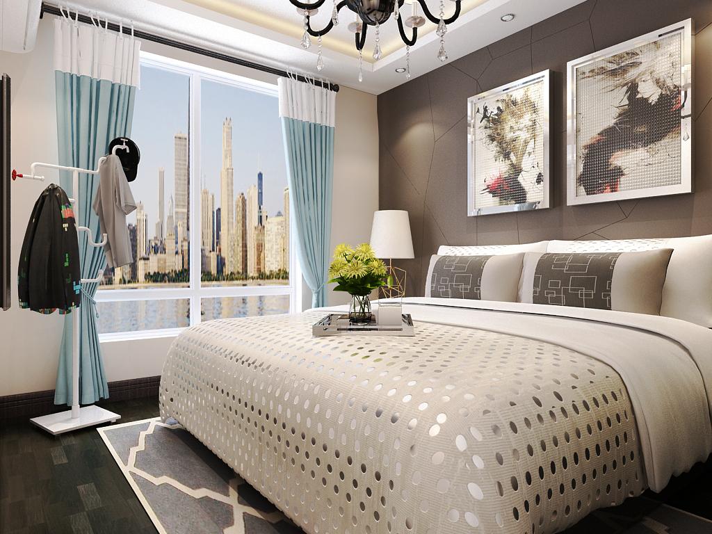 简约 三居 卧室图片来自石家庄阳光力天装饰在荣盛阿尔卡迪亚-96㎡-现代的分享