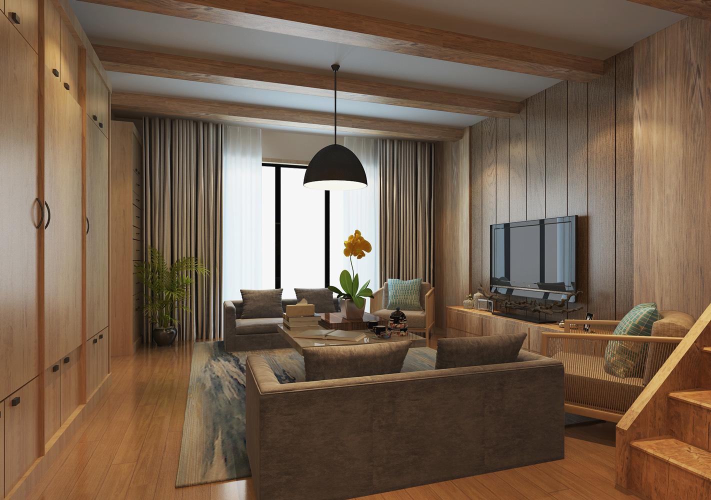 复地香栀花 别墅装修 简美风格 腾龙设计 客厅图片来自腾龙设计在复地香栀花园别墅现代风格设计1的分享