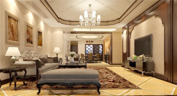 东郊半岛别墅装修美式风格设计方案展示,上海腾龙别墅设计