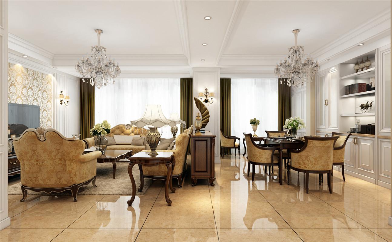 德绍豪斯 别墅装修 欧式风格 腾龙设计 客厅图片来自腾龙设计在安亭德绍豪斯复式装修欧式风格的分享