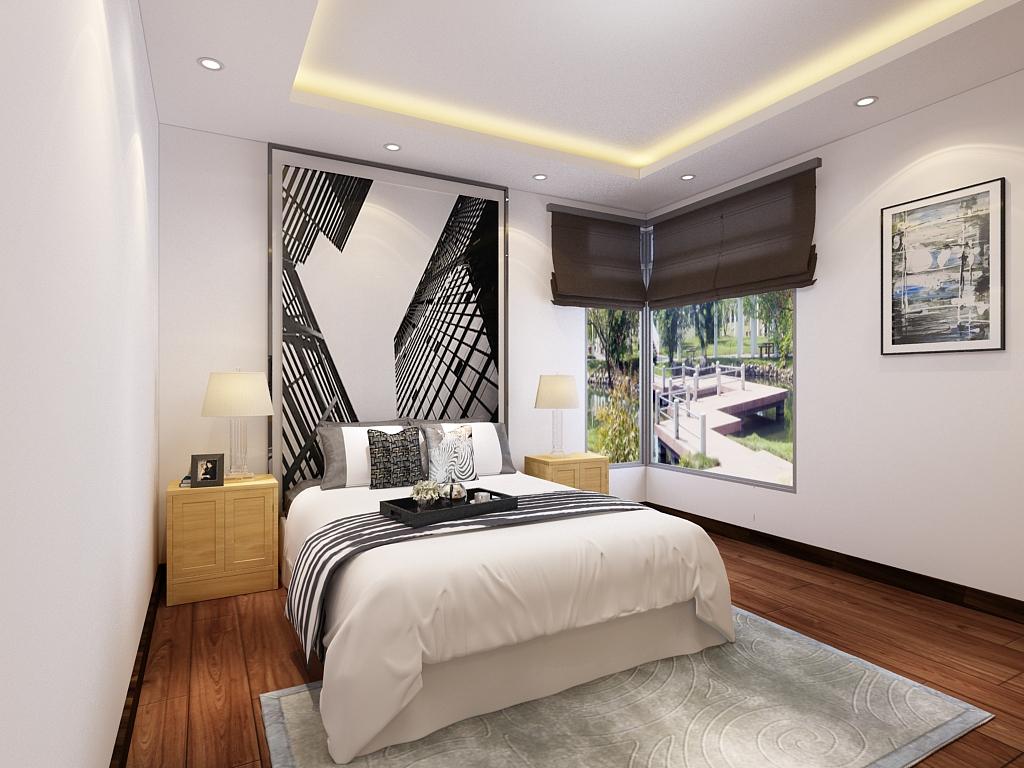 简约 二居 卧室图片来自石家庄阳光力天装饰在芳泽园-95㎡-现代的分享