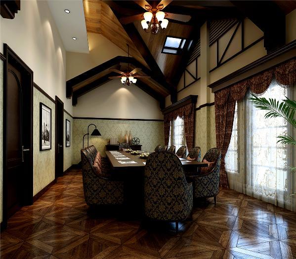 公元1860洋房装修美式古典风格设计方案展示,上海腾龙别墅设计,