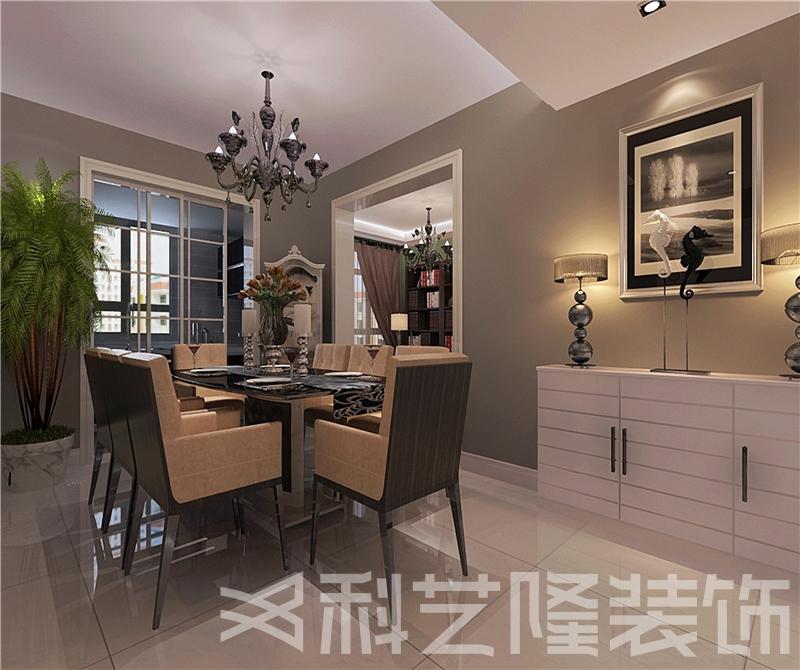 餐厅图片来自天津科艺隆装饰在华城佳苑—简欧风格—88㎡的分享