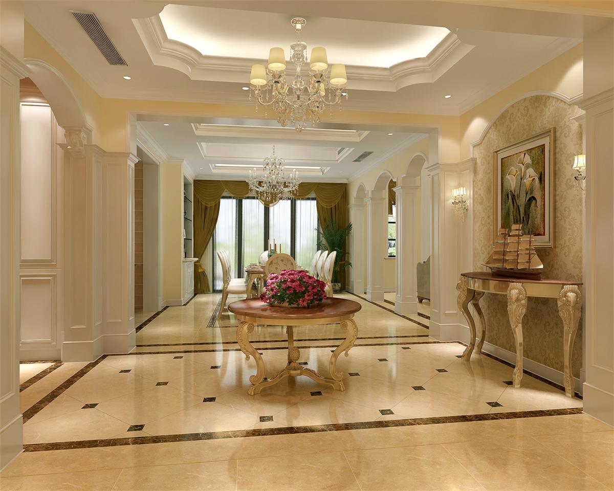 富力湾 别墅装修 欧美风格 腾龙设计 玄关图片来自腾龙设计在富力湾别墅装修欧美风格设计1的分享
