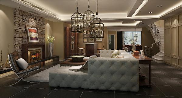 复地香栀花园别墅户型装修现代风格设计方案展示,上海腾龙别墅设计,