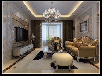 欧式装修案例190平米--四居室