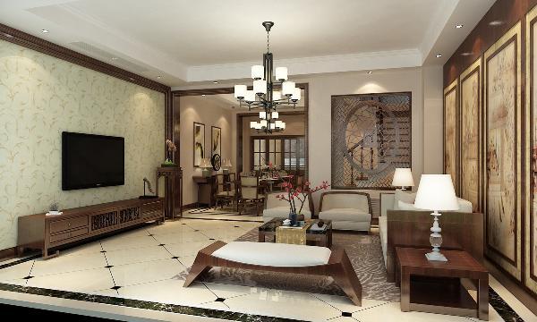 松江新城龙湖好望山别墅装修新中式风格设计方案展示,上海腾龙别墅设计,