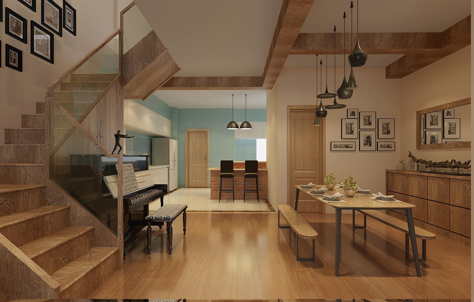 复地香栀花 别墅装修 简美风格 腾龙设计 餐厅图片来自腾龙设计在复地香栀花园别墅现代风格设计1的分享