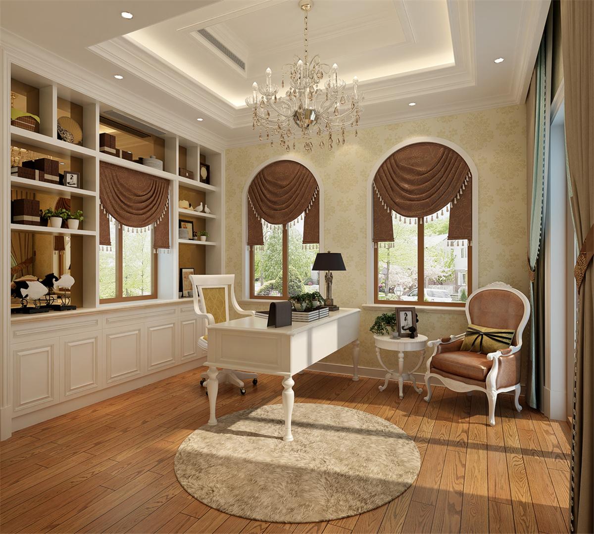 富力湾 别墅装修 欧美风格 腾龙设计 书房图片来自腾龙设计在富力湾别墅装修欧美风格设计1的分享