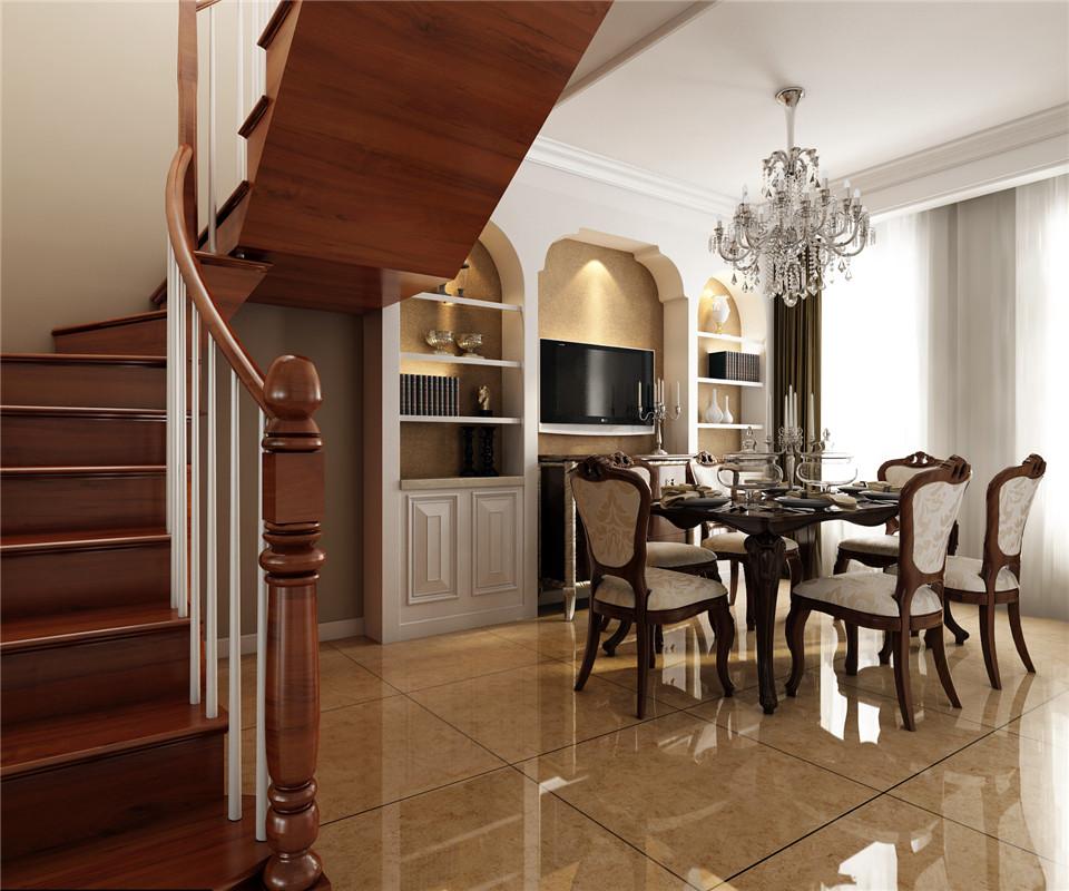 德绍豪斯 别墅装修 欧式风格 腾龙设计 餐厅图片来自腾龙设计在安亭德绍豪斯复式装修欧式风格的分享