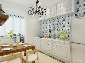 二居 地中海 收纳 80后 小资 厨房图片来自阳光力天装饰在地中海-国风星苑-105㎡的分享
